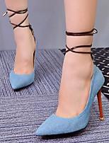 preiswerte -Damen Schuhe Denim Jeans Frühling Sommer Pumps High Heels Stöckelabsatz Spitze Zehe für Normal Blau Hellblau