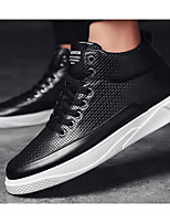 cheap -Men's Shoes PU Spring Fall Comfort Sneakers for Casual Light Blue Black White