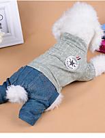 Cane Tuta Abbigliamento per cani Casual Lettere & Numeri Verde Rosa Costume Per animali domestici