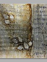 Недорогие -Ручная роспись Абстракция Modern Холст Hang-роспись маслом Украшение дома 1 панель