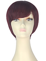 cheap -Women Synthetic Wig Short Straight Brown/Burgundy Lolita Wig Party Wig Halloween Wig Carnival Wig Cosplay Wig Natural Wigs Costume Wig