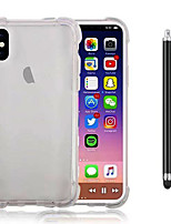 abordables -Funda Para Apple iPhone X iPhone 8 Plus Antigolpes Transparente Funda Trasera Color sólido Suave TPU para iPhone X iPhone 8 Plus iPhone 8
