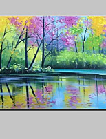 cheap -Hand-Painted Landscape Horizontal,Modern Canvas Oil Painting Home Decoration One Panel