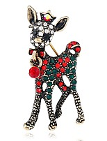 cheap -Women's Brooches Rhinestone European Alloy Deer Jewelry For Christmas Gift