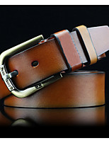 cheap -Men's Alloy Waist Belt,Light Brown Black Brown Vintage Work Casual