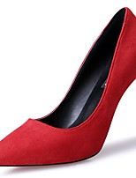 cheap -Women's Shoes Synthetic Microfiber PU Spring Fall Comfort Heels Stiletto Heel Pointed Toe for Casual Red Black