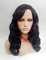 cheap -Women Synthetic Wig Medium Length Wavy Natural Black Side Part Natural Wigs Costume Wig