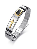 cheap -Men's Bangles Classic Vintage Elegant Titanium Cross Jewelry Wedding Party