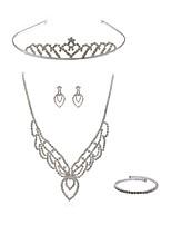 cheap -Women's Tiaras Bridal Jewelry Sets Rhinestone Fashion European Wedding Party Imitation Diamond Alloy Body Jewelry 1 Necklace Earrings