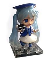 baratos -Figuras de ação de anime inspiradas por vocaloid snow miku pvc 10 cm modelo brinquedo brinquedo boneca
