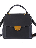 cheap -Women Bags PU Tote Buttons for Casual All Season Brown Black Green