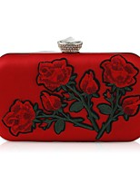 cheap -Women Bags PU Evening Bag Crystal Detailing Embroidery for Wedding Event/Party All Season Red Champagne