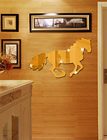 abordables -Animales Espejos Pegatinas de pared Calcomanías 3D para Pared Adhesivos de Pared Espejo Calcomanías Decorativas de Pared,Vinilo