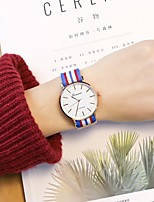 Men's Women's Casual Watch Wrist watch Chinese Quartz Casual Watch PU Band Casual Cool Minimalist White Red Green Pink Navy Clover Sky