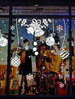cheap -Art Deco Christmas New Year's Window Sticker,PVC/Vinyl Material Window Decoration