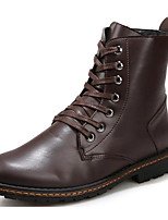 Men's Shoes Synthetic Microfiber PU Winter Fall Comfort Combat Boots Boots Mid-Calf Boots for Casual Brown Black