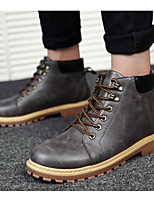 Men's Shoes Suede Winter Fall Comfort Combat Boots Boots Booties/Ankle Boots for Casual Brown Yellow Gray