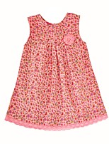 cheap -Girl's Birthday Daily Florals Dress,Cotton Spring Fall Sleeveless Cute Princess Blushing Pink