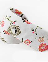 cheap -Men's Cotton Necktie,Casual Print All Seasons White