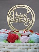 Cake Topper Birthday Ethnic Plastic Birthday with Trim 1 OPP