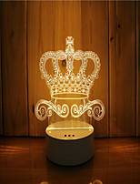 cheap -1 Set Of 3D Mood Night Light Hand Feeling Dimmable USB Powered Gift Lamp Crown