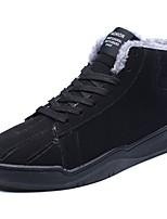 Недорогие -Для мужчин обувь Флис Зима Удобная обувь Кеды Для прогулок Сапоги до середины икры Ленты для Черный Серый Красный