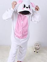 Недорогие -Девочки Пижамы Хлопок С принтом Длинные рукава Мультяшная тематика Белый