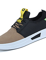 cheap -Men's Shoes Rubber Spring Fall Comfort Sneakers Ribbon Tie for Outdoor Yellow Gray Black