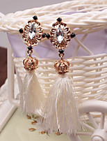 cheap -Women's Drop Earrings Tassel Ethnic Crystal Alloy Crown Jewelry Party Daily