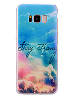 cheap -Case For Samsung Galaxy S8 Plus S8 Translucent Pattern Back Cover sky Soft TPU for S8 Plus S8 S7 edge S7 S6 edge S6