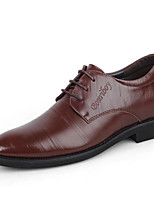 cheap -Men's Shoes Cowhide Winter Fall Comfort Oxfords for Casual Brown Black