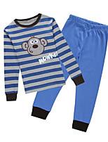 cheap -Boys' Daily Sports Cartoon Clothing Set,Cotton All Seasons Long Sleeve Casual Street chic Blue