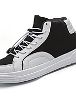 economico -Da donna Scarpe Gomma Primavera Autunno Comoda Sneakers Footing Piatto Punta tonda Stivaletti/tronchetti Nastro per Bianco Nero