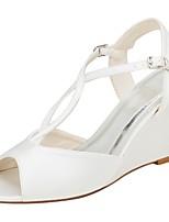 economico -Da donna Scarpe Raso elasticizzato Estate Decolleté scarpe da sposa Zeppa Occhio di pernice Lustrini Fibbia per Formale Serata e festa