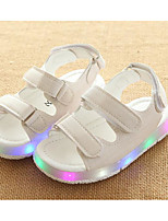cheap -Girls' Shoes Leatherette Winter Fall Comfort Sandals Walking Shoes Magic Tape for Casual White Black Yellow Pink