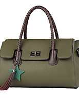 cheap -Women Bags PU Tote Appliques Zipper for Wedding Formal All Season Brown Gray Red Black Green