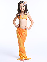 cheap -The Little Mermaid Skirt Kid Halloween Festival / Holiday Halloween Costumes Yellow Rainbow Mermaid