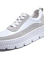 cheap -Women's Shoes PU Spring Fall Comfort Sneakers Flat for Outdoor Pink Gray