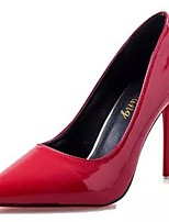 Women's Shoes PU Winter Comfort Heels Stiletto Heel Pointed Toe for Casual Burgundy Pink Red Fuchsia Black