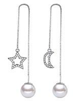 Недорогие -Жен. Серьги-слезки Серьги-кольца Искусственный жемчуг Милая Мода Elegant Сплав MOON Звезда Бижутерия Свадьба Для вечеринок