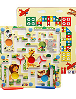 cheap -Wooden Puzzles Maze Magnetic Maze Maze Toys Flat Shape Classic Theme Animal Animals Stress and Anxiety Relief Decompression Toys Classic