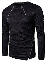 cheap -Men's Daily Sweatshirt Print Round Neck Micro-elastic Cotton Long Sleeve Winter Autumn/Fall