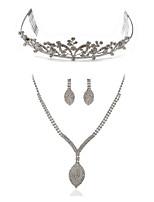 Недорогие -Жен. Ожерелья-цепочки Свадебные комплекты ювелирных изделий Синтетический алмаз Искусственный бриллиант Сплав Мода европейский Свадьба