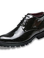 cheap -Men's Shoes Leatherette Winter Fall Formal Shoes Oxfords for Wedding Party & Evening Black
