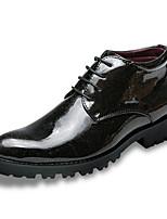Недорогие -Для мужчин обувь Дерматин Зима Осень Формальная обувь Туфли на шнуровке для Свадьба Для вечеринки / ужина Черный