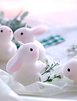 cheap -Birthday party supplies creative birthday candles smokeless candles bunny candle small gift