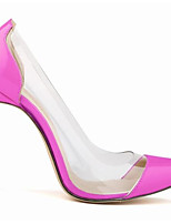 cheap -Women's Shoes Real Leather Spring Summer Basic Pump Heels Stiletto Heel Pointed Toe for Casual Pink Blue Green Red Fuchsia