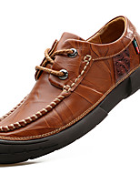 cheap -Men's Shoes Nappa Leather Winter Fall Comfort Formal Shoes Oxfords for Casual Party & Evening Black Brown
