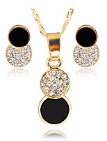 cheap -Women's Jewelry Set Bridal Jewelry Sets Simple Fashion Wedding Evening Party Gold Plated 1 Necklace Earrings