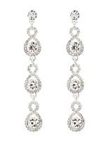 baratos -Mulheres Brincos Compridos Clássico Elegant Imitações de Diamante Liga Jóias Casamento Festa
